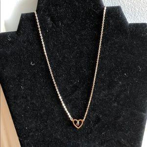 Gold Tone Necklace w/ 💜Pendent & Purple Stone